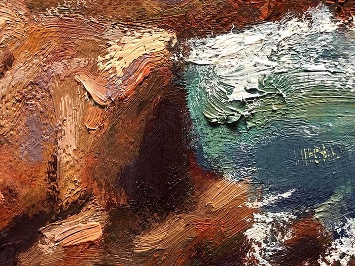 Honeymoon Bay Painting - Detail (3)