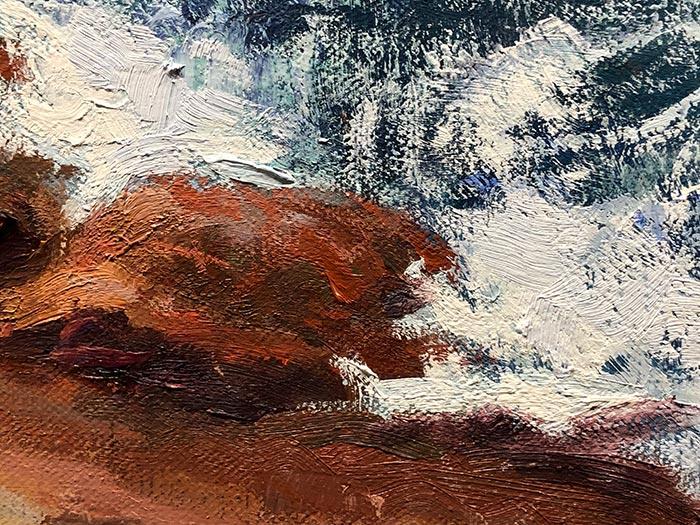 Honeymoon Bay Painting - Detail (5)