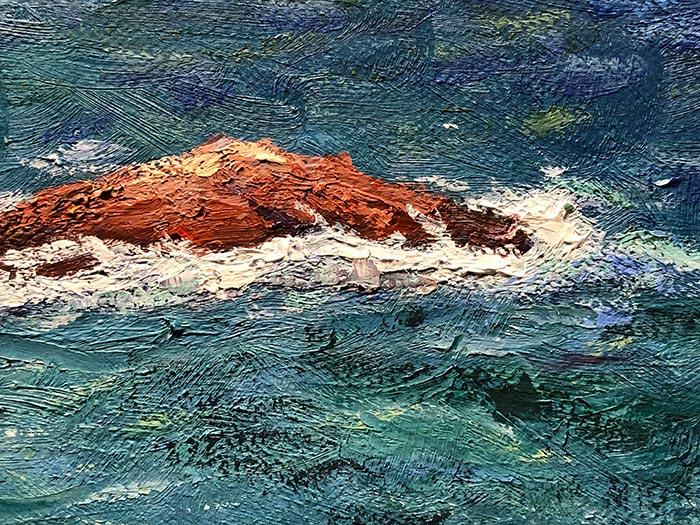 Honeymoon Bay Painting - Detail (6)