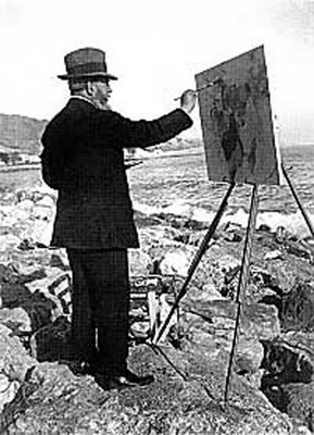 Joaquín Sorolla Painting on Location