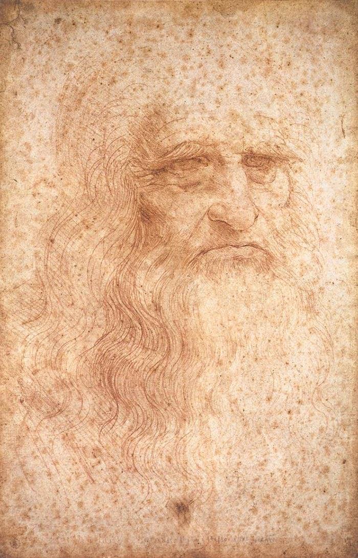 Leonardo da Vinci, Portrait of a Man in Red Chalk, c.1512