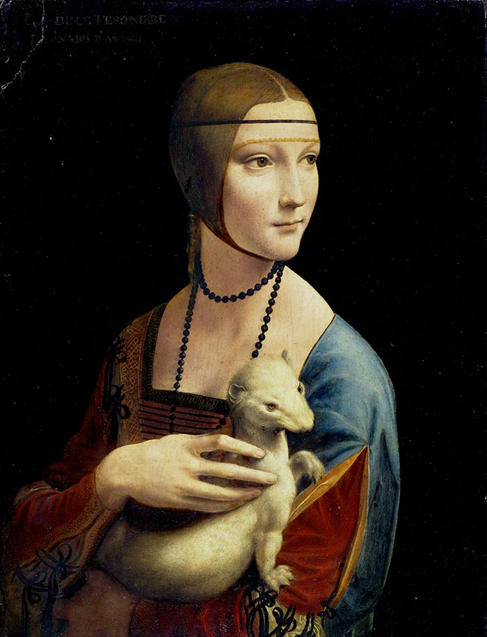 Leonardo da Vinci, Lady with an Ermine, 1489-1490
