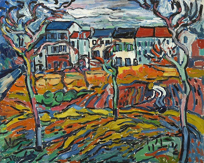 Maurice de Vlaminck, Houses at Chatou, c.1905