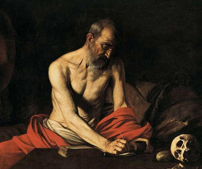 Michelangelo Merisi De Caravaggio, Saint Jerome Writing, 1607