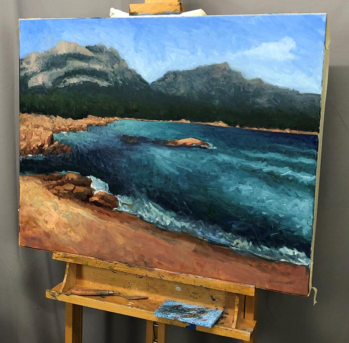 Painting Honeymoon Bay, Tasmania (15)