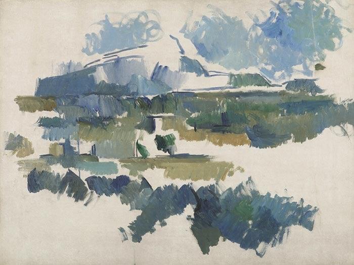 Paul Cézanne, Mont Sainte-Victoire, Unfinished, 1906