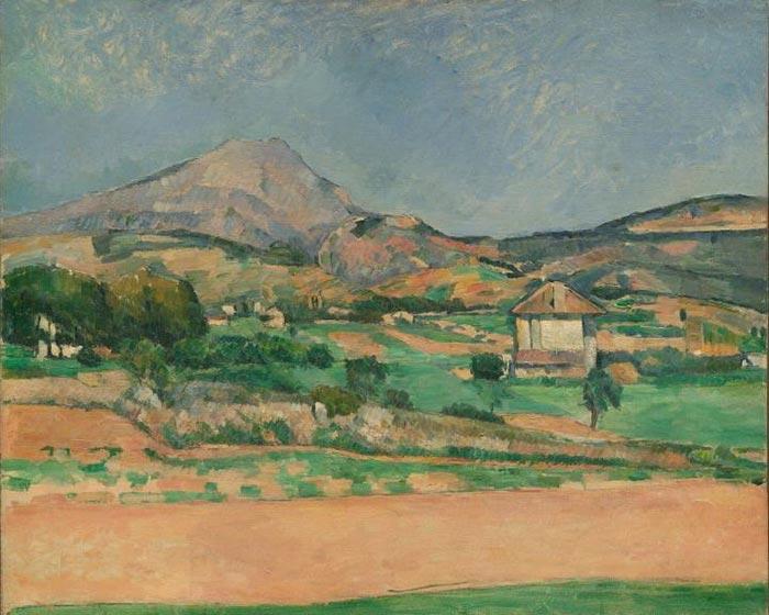 Paul Cézanne, The Plain by Mont Sainte-Victoire, View from Valcros, 1885