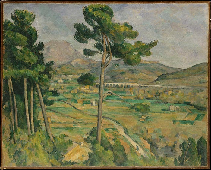 Paul Cézanne, Mont Sainte-Victoire and the Viaduct of the Arc River Valley, 1882-1885