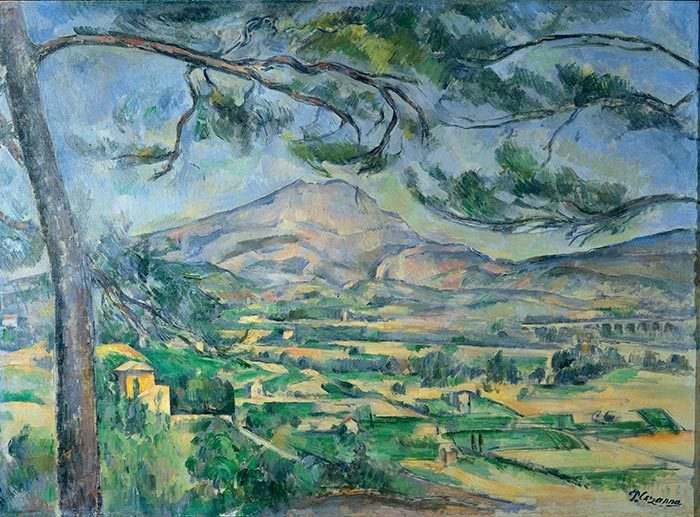 Paul Cézanne, Mont Sainte-Victoire with Large Pine, c.1887