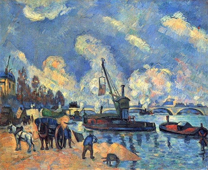 Paul Cézanne, The Seine at Bercy, 1878