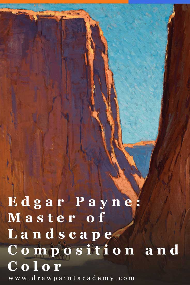 Edgar Payne - Master of Landscape Composition and Color. When I think of landscape painting, one of the first artists who comes to mind is Edgar Payne. He was one of America\'s most prominent landscape painters who had a remarkable eye for composition and color (he literally wrote what many consider to be the book on landscape composition). #drawpaintacademy