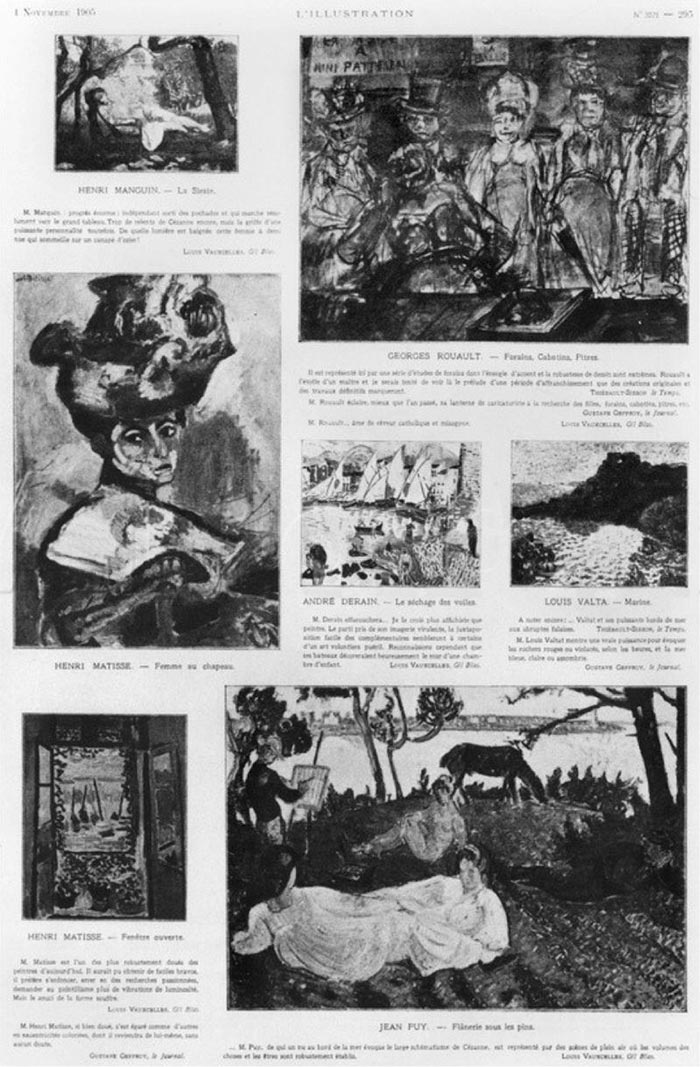 Press Clipping for Les Fauves - Exhibition at the Salon d'Automne, in L'Illustration, 4 November 1905