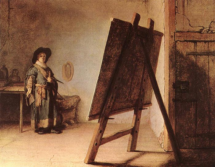 Rembrandt, The Artist in His Studio, 1626-1628