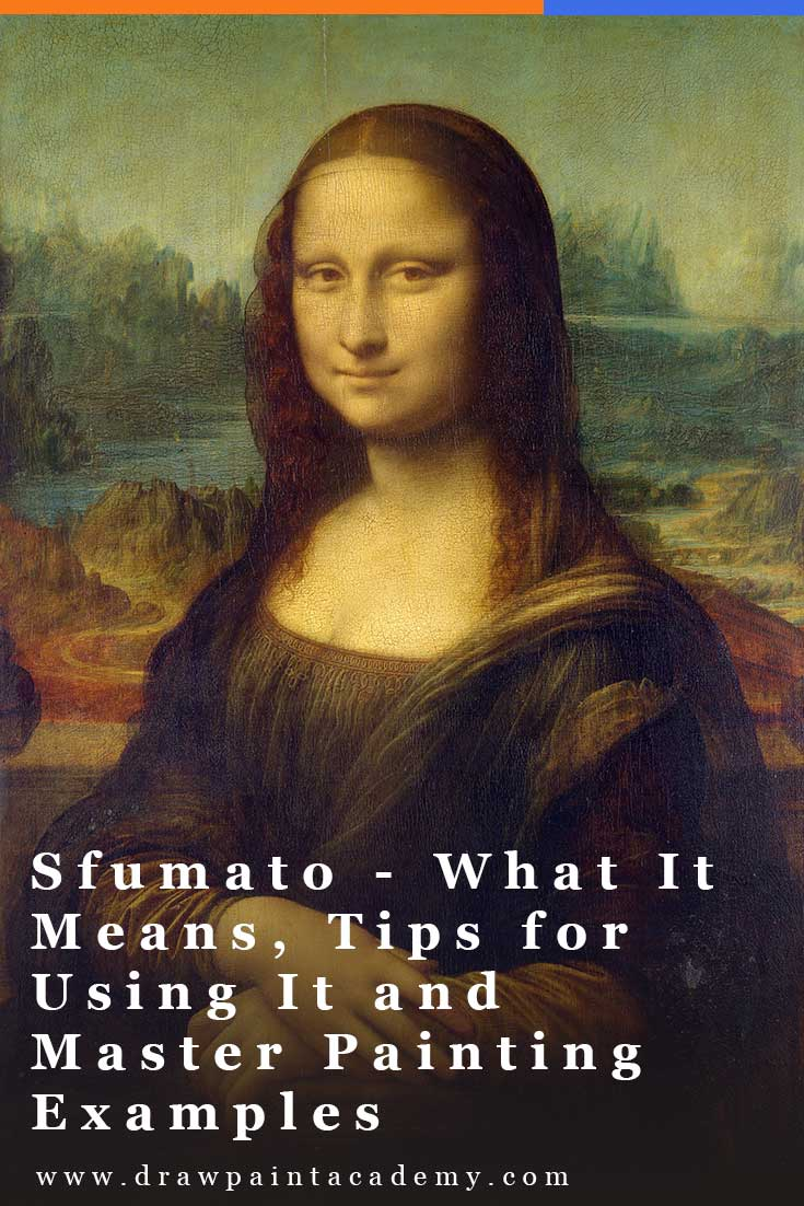 Sfumato is a painting technique which involves blending the edge between colors so that there is a soft transition. The term \