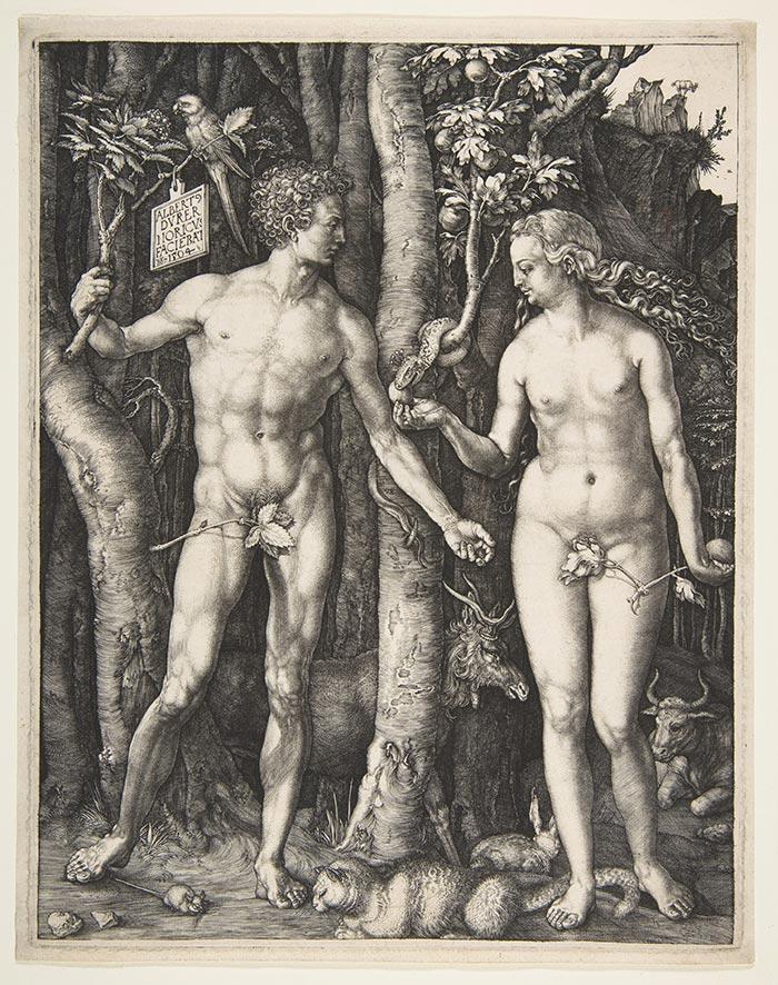 Albrecht Dürer, Adam and Eve, Engraving, 1504
