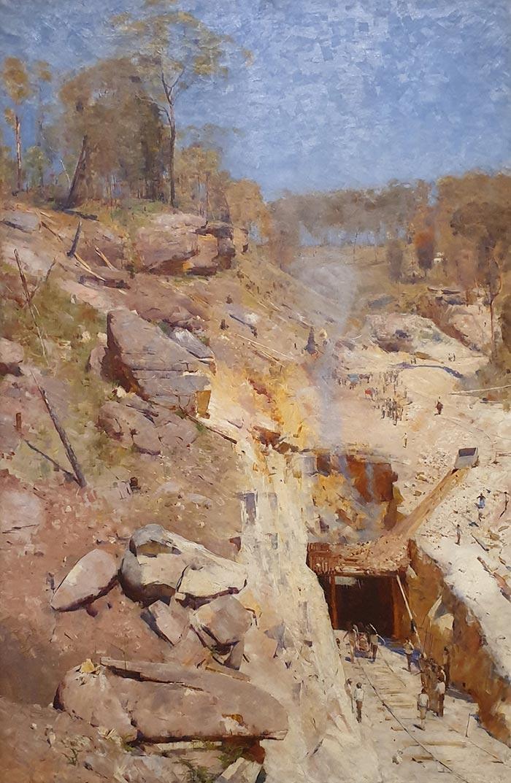 Arthur Streeton, Fire's On, 1891