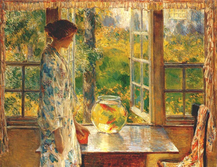 Childe Hassam, The Aquarium with Gold Fish, 1912