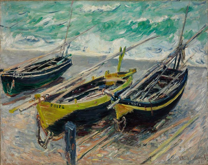 Claude Monet, Fishing Boats, 1886
