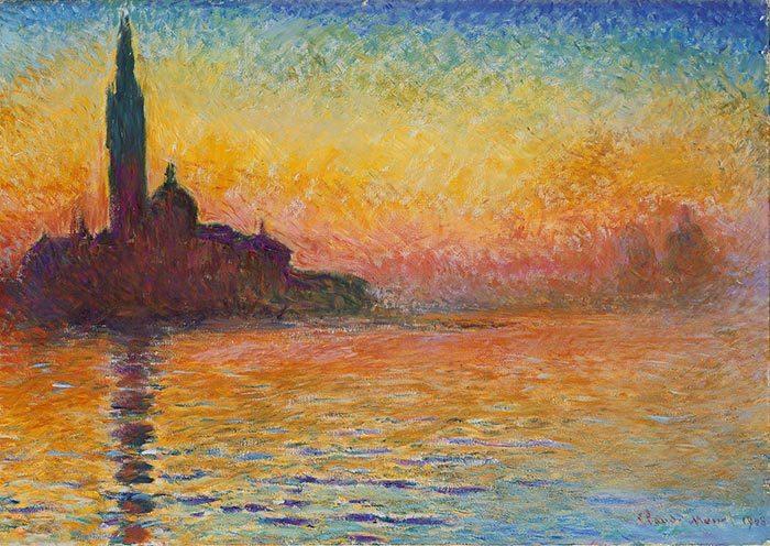 Claude Monet, San Giorgio Maggiore at Dusk, 1908