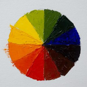 Color Wheel - Red, Blue and Yellow Primary Colors