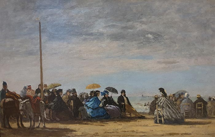 Eugene Boudin, The Beach, 1864