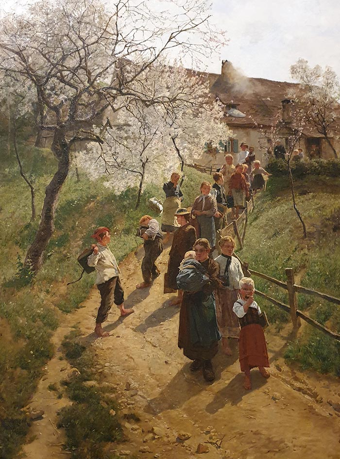 Friedrich Kallmorgen, A Spring Day, 1889