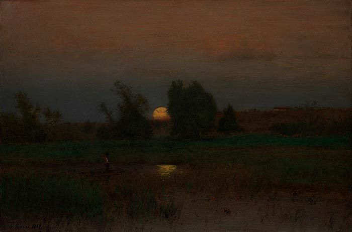 George Inness, Moonrise, 1887