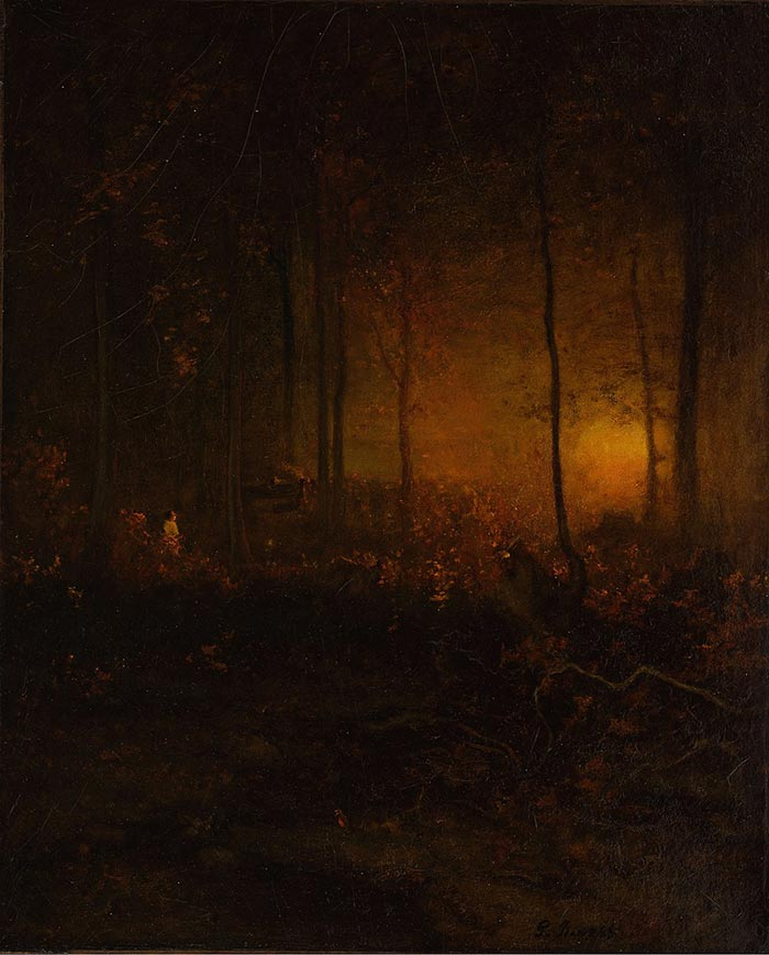 George Inness, Watching the Sun Glow, 1887