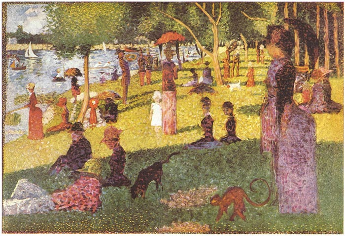 Georges Seurat, Sketch of Sunday Afternoon on the Island of La Grande Jatte, 1885
