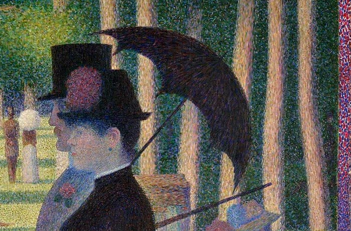 Georges Seurat, Sunday Afternoon on the Island of La Grande Jatte, 1884 - Close Up