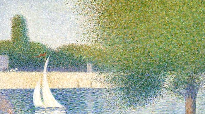 Georges Seurat, Sunday Afternoon on the Island of La Grande Jatte, 1884 (closeup 3)