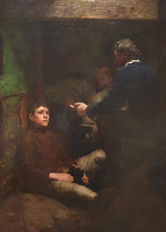 Henry Scott Tuke, A Sailor's Yarn, 1887