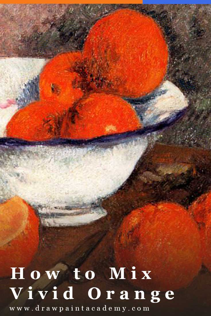 In this post I walk you through how to mix your own vivid orange using different red and yellow paints. The purpose of this exercise is to deepen your understanding of color mixing, color bias and the limitations of our paints. #drawpaintacademy