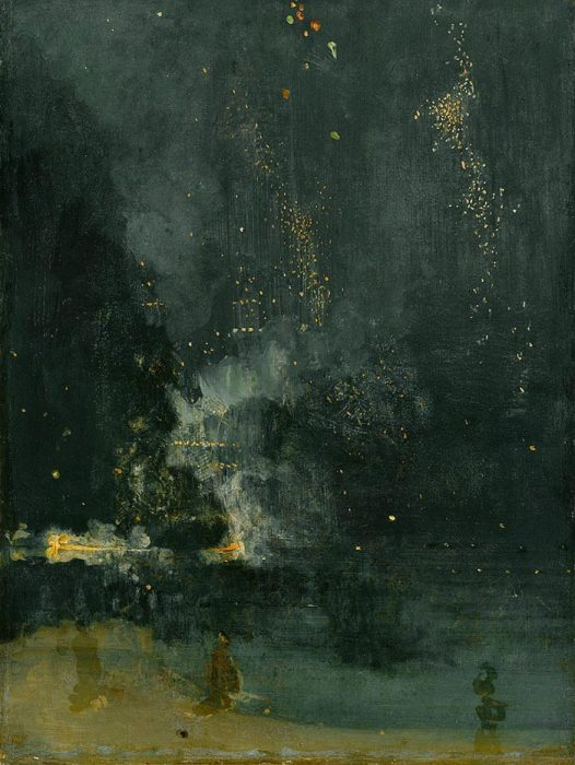 James Abbott McNeill Whistler, Nocturne in Black and Gold – the Falling Rocket, 1875