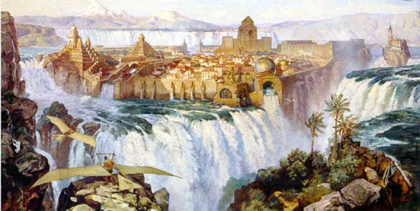 James Gurney, Dinotopia - Land Apart from Time, Waterfall City