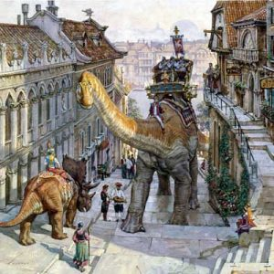 James Gurney, Dinotopia - World Beneath, Steep Street
