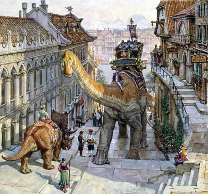 James Gurney, Dinotopia - World Beneath, Steep Street