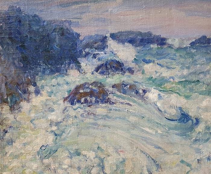 John Russell, Rough Sea, Morestil, c.1900