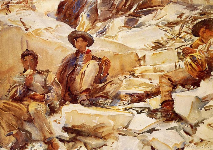 John Singer Sargent, Carrara, Working, 1911