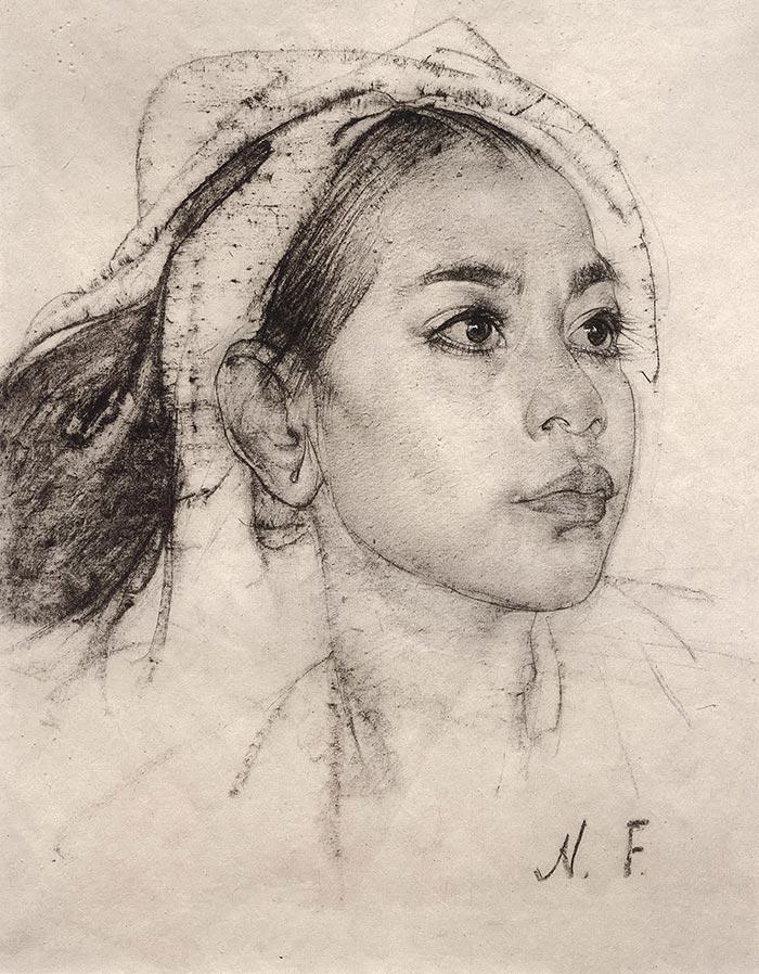Nicolai Fechin, Drawing