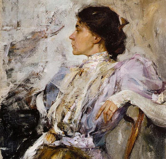 Nicolai Fechin, Lady in Lilac, 1908