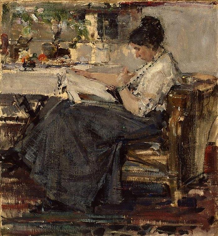 Nicolai Fechin, Portrait of N. V. Sapozhnikova, 1915