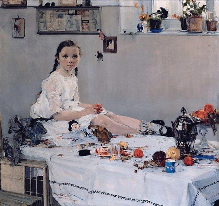 Nicolai Fechin, Portrait of Varya Adoratskaya, 1914