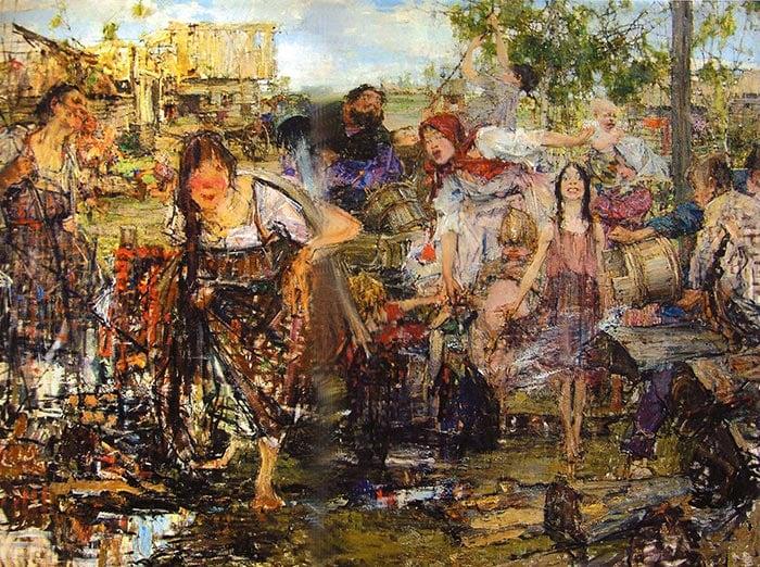 Nicolai Fechin, Pouring, 1914