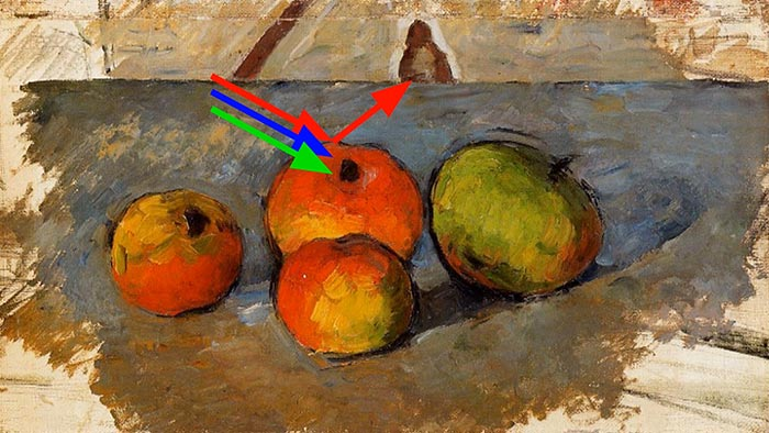 Paul Cézanne, Four Apples, 1881 - Light
