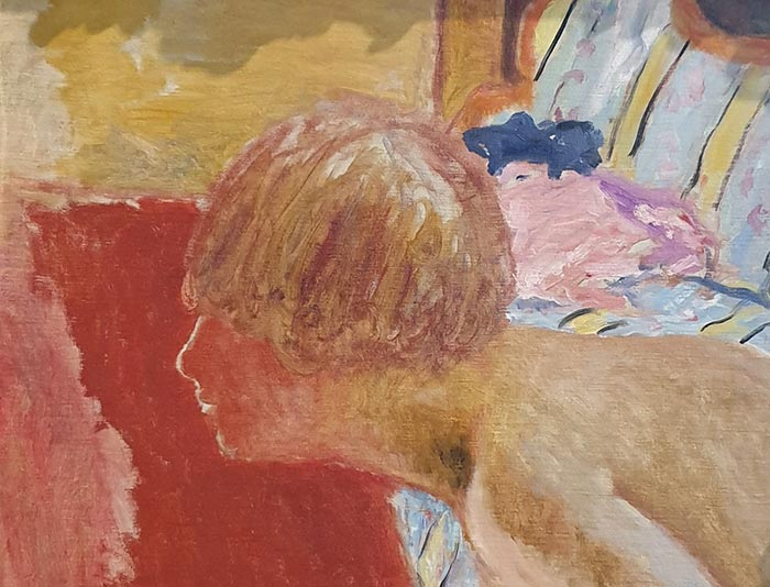 Pierre Bonnard, Bust in Profile, Red Background (Study), c.1920