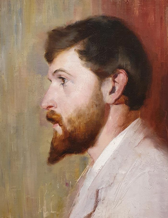 Tom Roberts, Smike Streeton Age 24, 1891