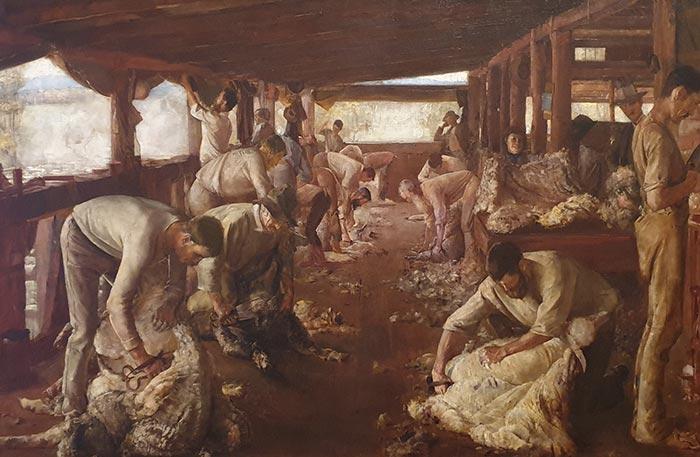 Tom Roberts, The Golden Fleece, 1894