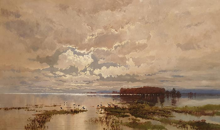 Wc Piguenit, The Flood in the Darling, 1890