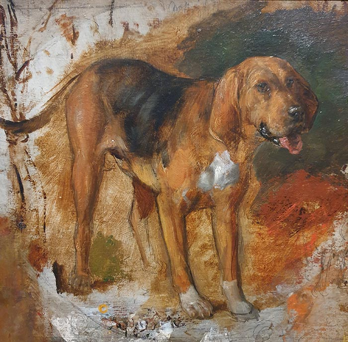 William Holman Hunt, Study of a Bloodhound, 1848